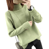 Turtleneck Computer Knitted Cotton Sweater - Fashionmoxy