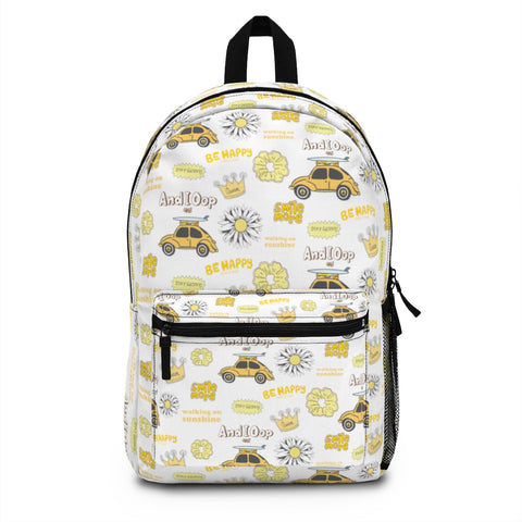 Earth 2 Jane 'Yellow VSCO Stickers' Backpack