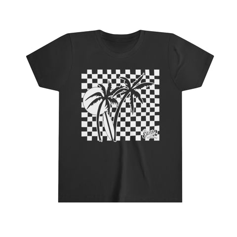 Earth 2 Jane 'Checker Palm' T-Shirt