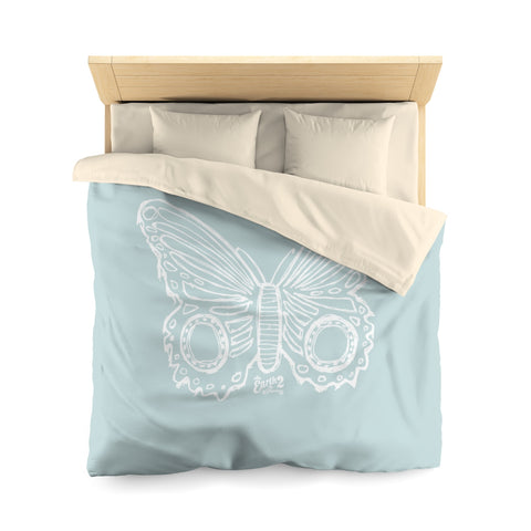 Earth 2 Jane 'Butterfly' Light Blue Duvet Cover