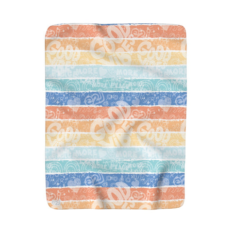 Earth 2 Jane 'Surfer Vibes' Sherpa Fleece Blanket
