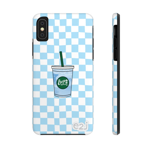 Earth 2 Jane 'Blue Checker Icee' Phone Case