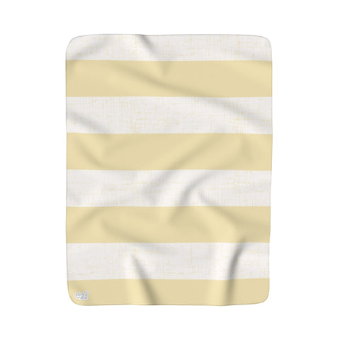 Earth 2 Jane 'Soft Yellow Stripe' Sherpa Fleece Blanket