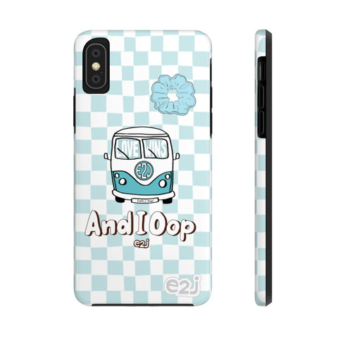 Earth 2 Jane 'Blue Checker And I Oop' Phone Case