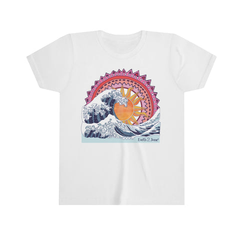 Earth 2 Jane 'Wave Art Pink' T-Shirt