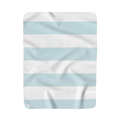 Earth 2 Jane 'Soft Blue' Stripe Sherpa Fleece Blanket