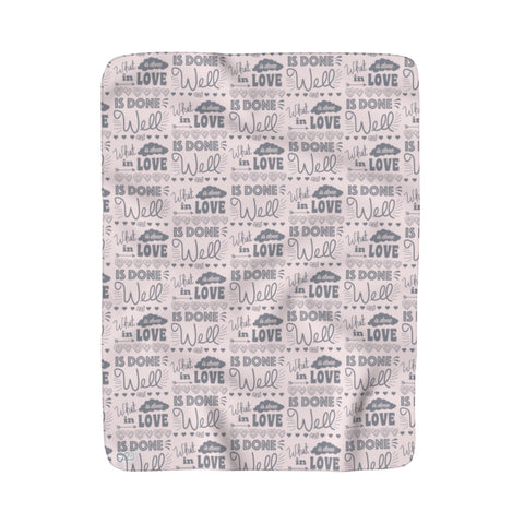 Earth 2 Jane 'In Love' Sherpa Fleece Blanket
