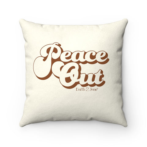 Earth 2 Jane 'Peace Out' Yellow Square Pillow