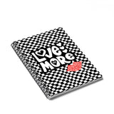 Earth 2 Jane 'Black Checkers' Love More Spiral Notebook - Ruled Line