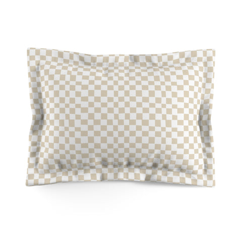 Earth 2 Jane 'Checker Palms' Sand Pillow Sham