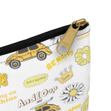 Earth 2 Jane 'Yellow VSCO Stickers' Accessory Pouch