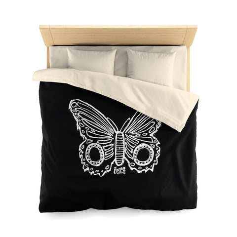 Earth 2 Jane 'Butterfly' Black Duvet Cover