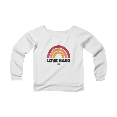 Earth 2 Jane 'Love Hard' Teen Wide Neck Sweatshirt