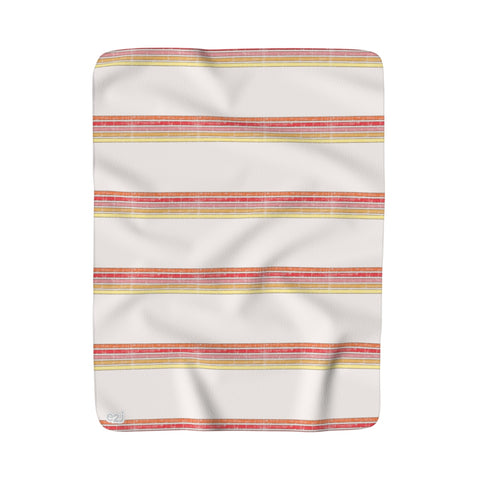 Earth 2 Jane 'Choose Happy' Wide Stripe Sherpa Fleece Blanket