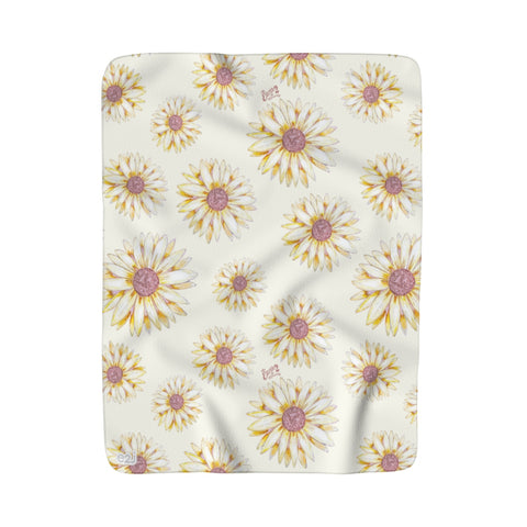 Earth 2 Jane 'Sunflower' Sherpa Fleece Blanket