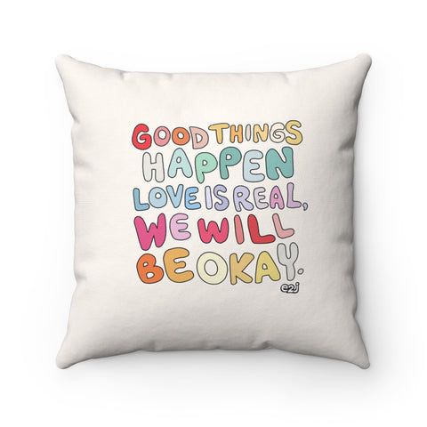 Earth 2 Jane 'Good Things' Square Pillow
