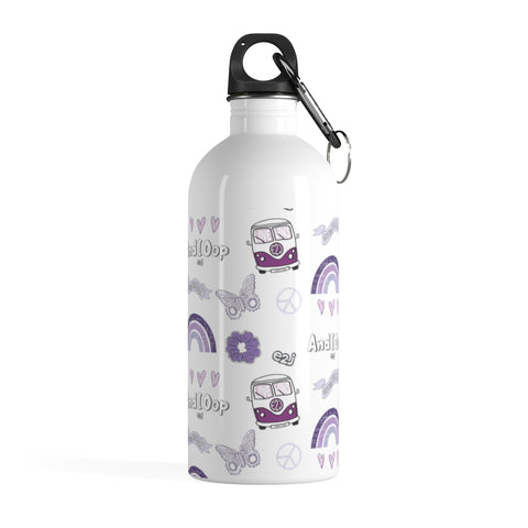 Earth 2 Jane 'Purple VSCO Sticker' Water Bottle