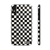 Earth 2 Jane 'Black Checkers' Phone Case