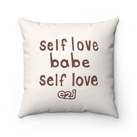Earth 2 Jane 'Self Love' Square Pillow