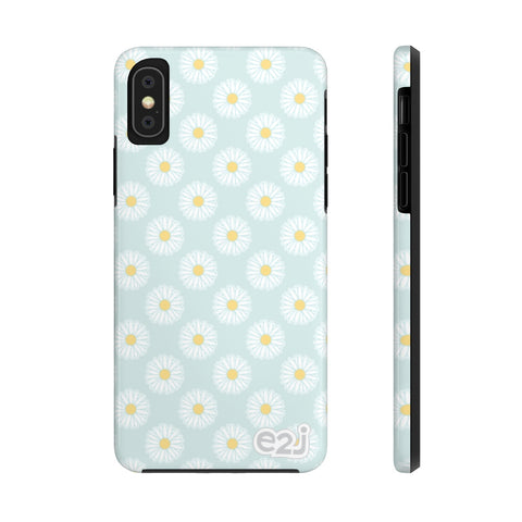 Earth 2 Jane 'Blue Green Daisies' Phone Case