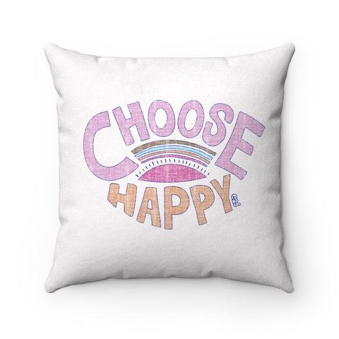 Earth 2 Jane 'Happy'  Square Pillow