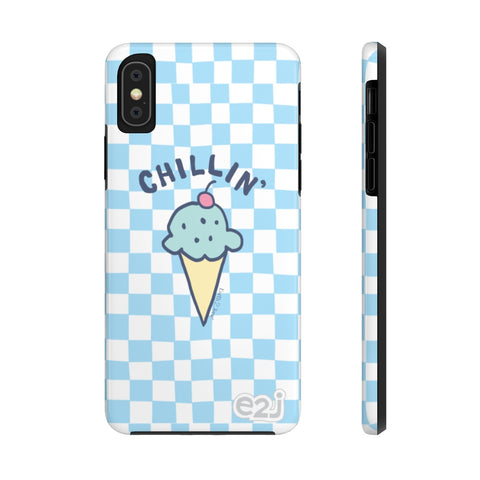 Earth 2 Jane 'Blue Checker Chillin' Phone Case
