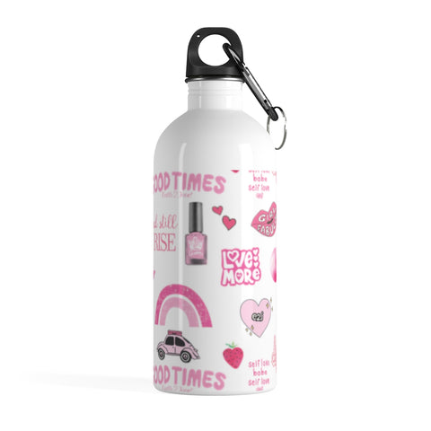 Earth 2 Jane 'Pink VSCO Sticker' Water Bottle