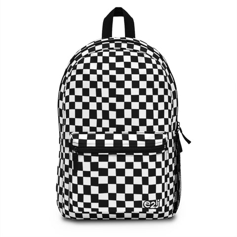 Earth 2 Jane 'Black Checkers' Backpack (Made in USA)