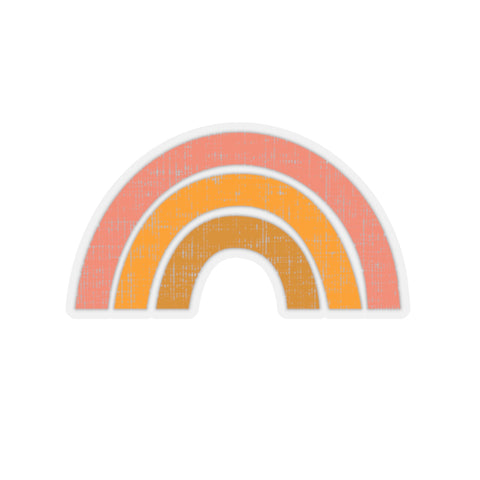 Earth 2 Jane 'Orange Rainbow' Sticker
