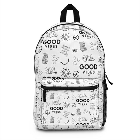 Earth 2 Jane 'Black & White Stickers' Backpack
