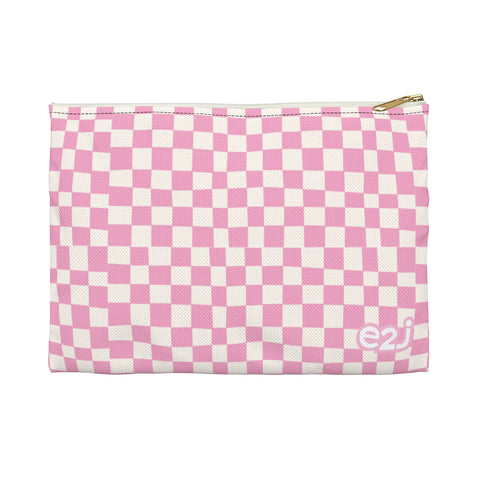 Earth 2 Jane 'Pink Checkers' Accessory Pouch