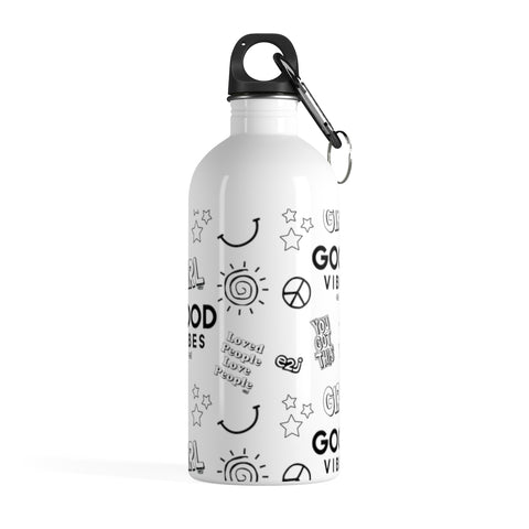 Earth 2 Jane 'Black & White Sticker' Water Bottle