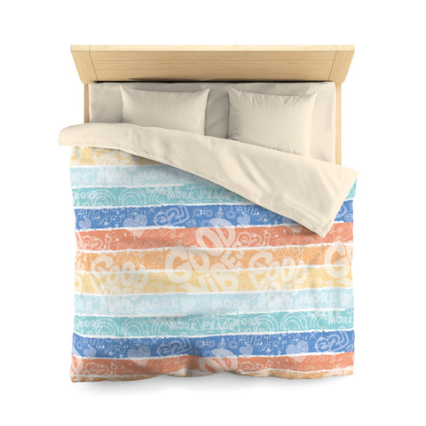 Earth 2 Jane 'Surfer Vibes'  Duvet Cover