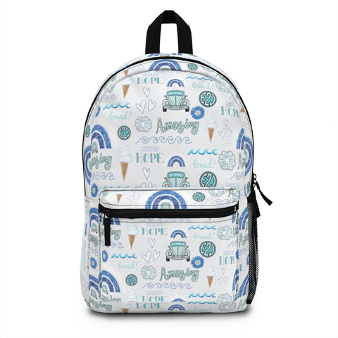 Earth 2 Jane 'Blue VSCO Stickers' Backpack