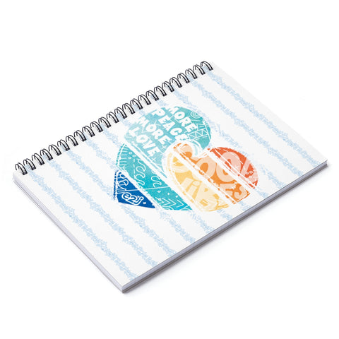 Earth 2 Jane 'Surfer Vibes' Spiral Notebook - Ruled Line