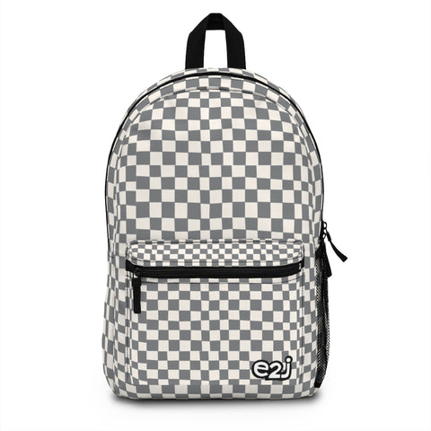 Earth 2 Jane 'Grey Checkers' Backpack (Made in USA)