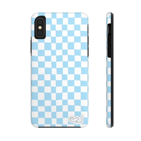 Earth 2 Jane 'Blue Checkers' Phone Case