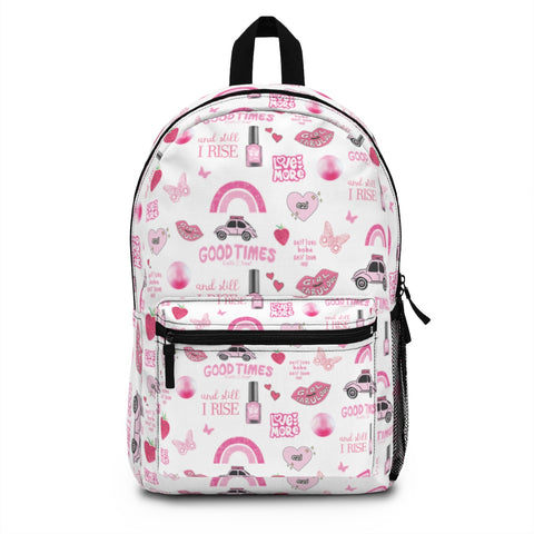 Earth 2 Jane 'Pink VSCO Stickers' Backpack
