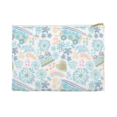 Earth 2 Jane 'VSCO Blue Pattern' Accessory Pouch