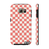 Earth 2 Jane 'Red Checkers' Phone Case