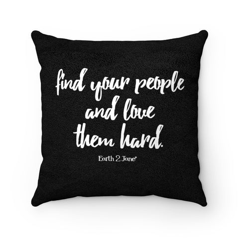 Earth 2 Jane 'Butterfly' Black Quote Square Pillow