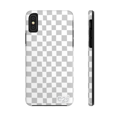 Earth 2 Jane 'Light Grey Checkers' Phone Case