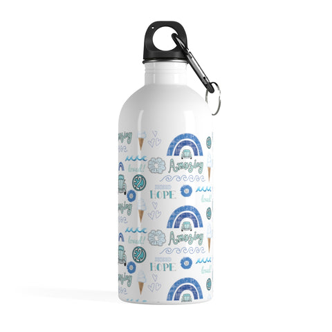 Earth 2 Jane 'Blue VSCO Sticker' Water Bottle