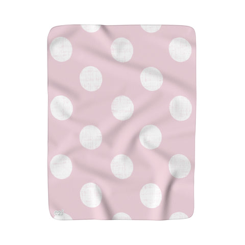 Earth 2 Jane 'Soft Pink Dot' Sherpa Fleece Blanket