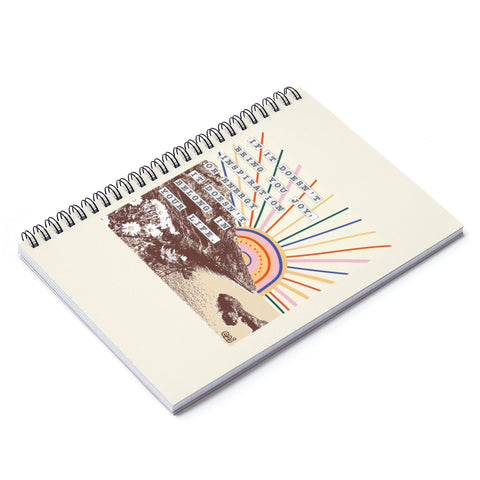Earth 2 Jane 'Sunset' Spiral Notebook - Ruled Line