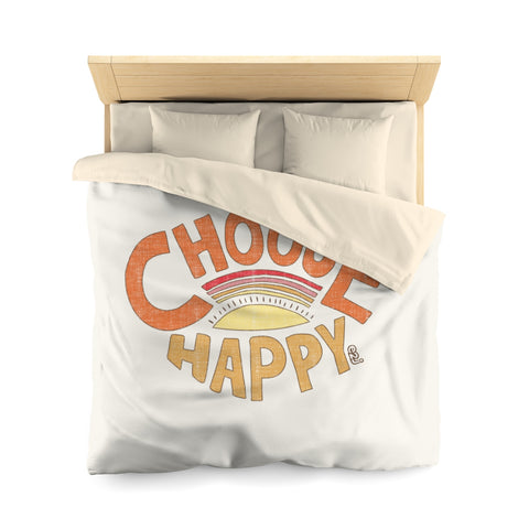 Earth 2 Jane 'Choose Happy'  Duvet Cover