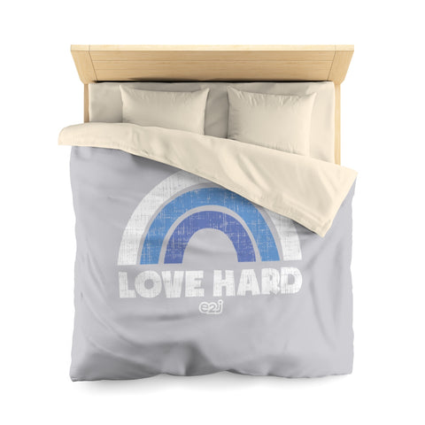 Earth 2 Jane 'Love Hard' Blue Duvet Cover