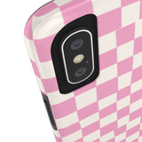 Earth 2 Jane 'Pink Checkers' Phone Case
