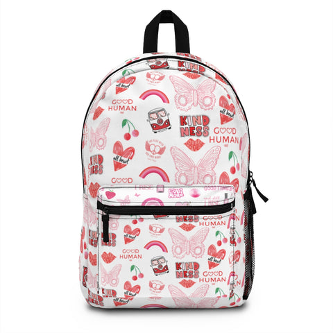 Earth 2 Jane 'Red VSCO Stickers' Backpack