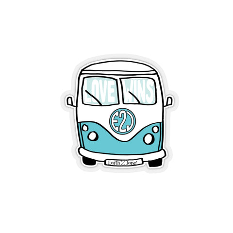 Earth 2 Jane 'Surfer Van' Sticker